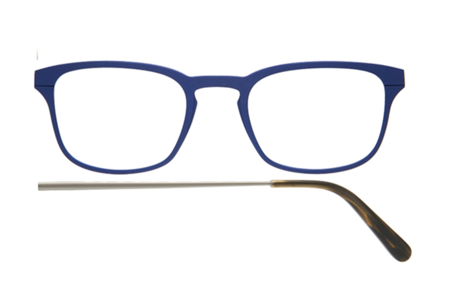 Kilsgaard 61 (Aluminium Temple) Eyeglasses in 61.4 Acetate Blue (Discontinued)