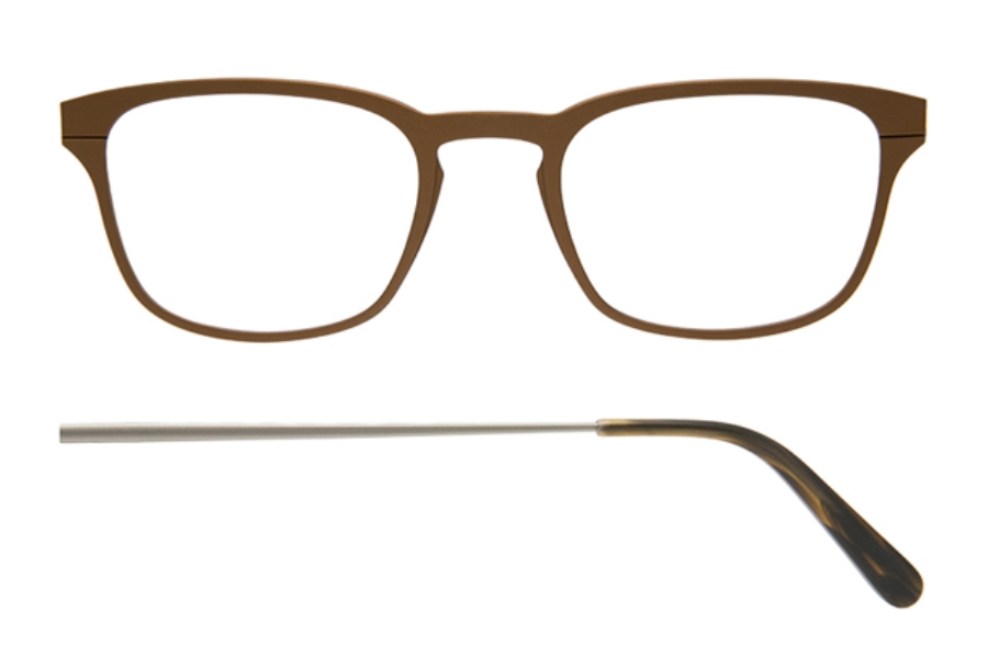 Kilsgaard 61 (Aluminium Temple) Eyeglasses in 61.6 Acetate Bronze
