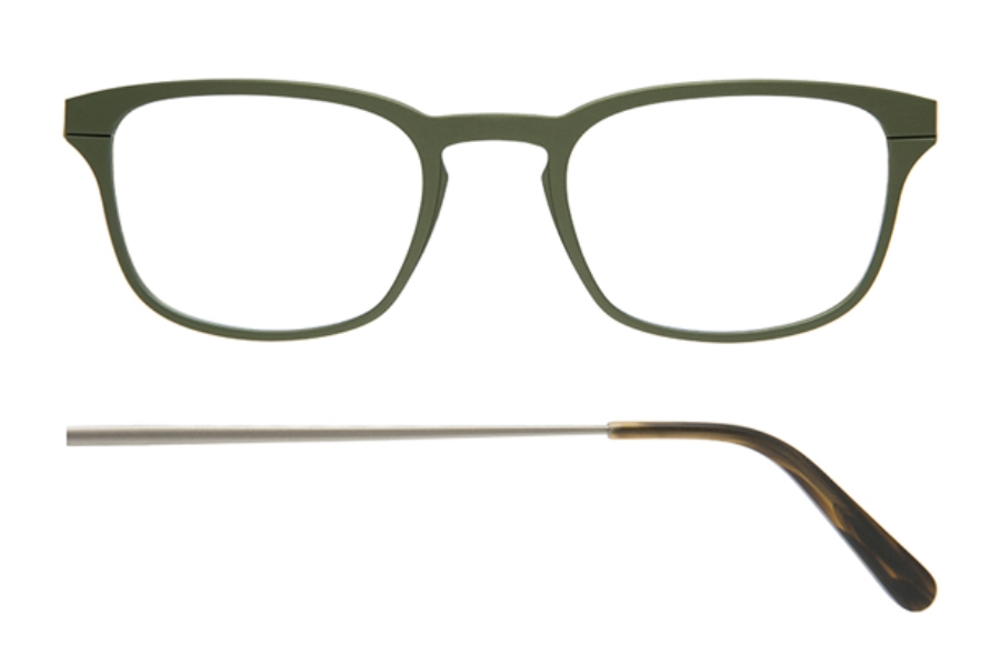 Kilsgaard 61 (Aluminium Temple) Eyeglasses in 61.7 Acetate Green (Discontinued)