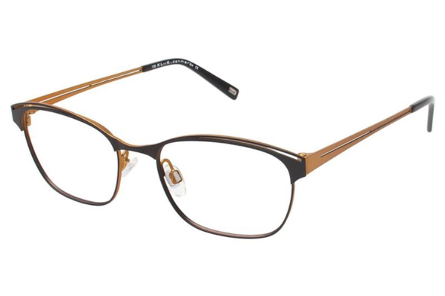 Kliik KLiiK 513 Eyeglasses in 548 Brown / Lemon