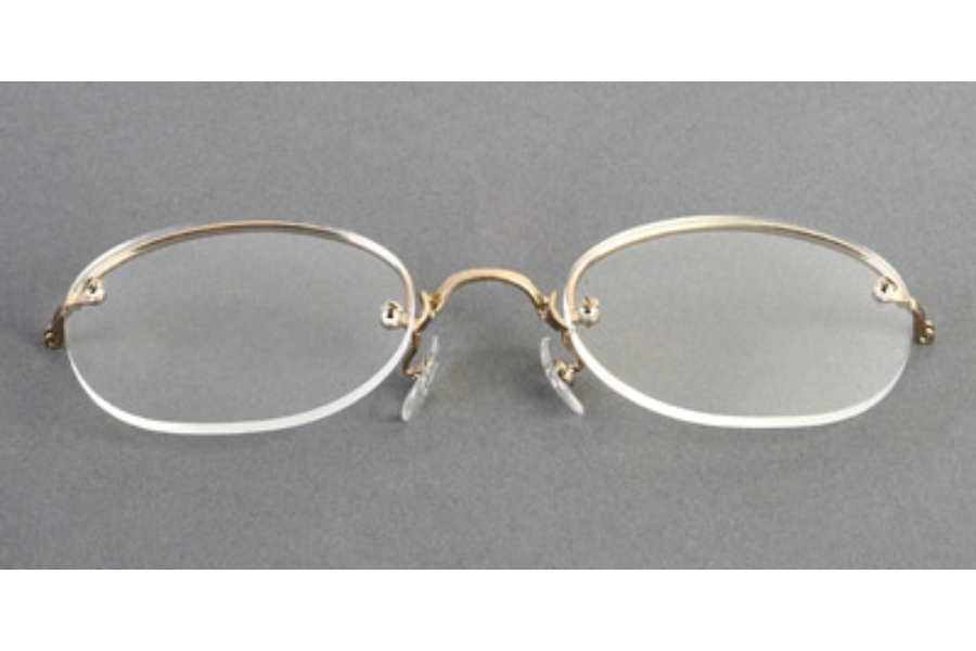 Legendary Looks Art-Bilt Rimway Cable Temples Eyeglasses in GOLD OVAL #2