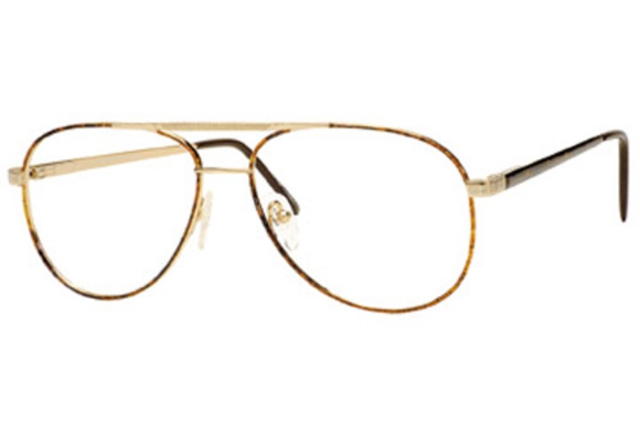 Looking Glass 8002 Eyeglasses in Gold-Brown Demi Amber