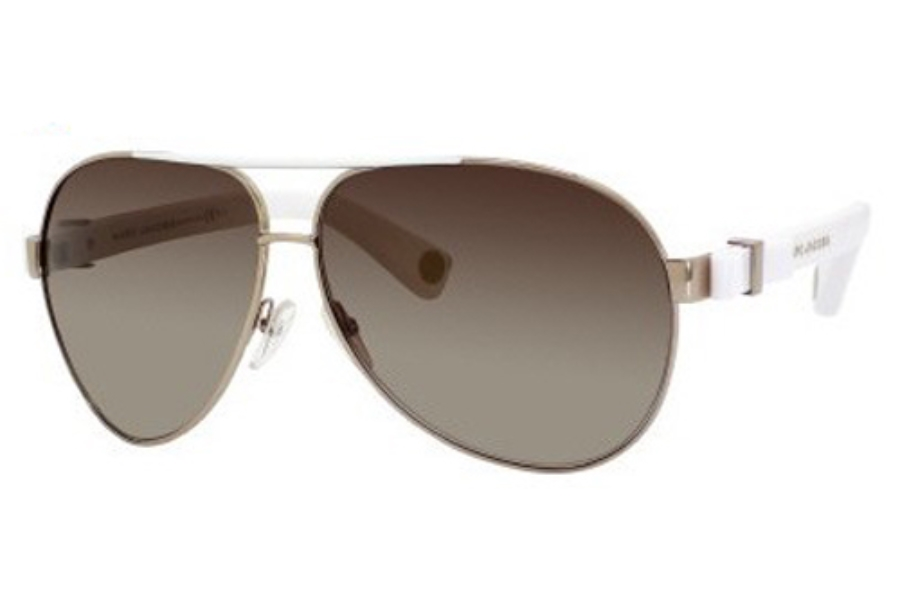 Marc Jacobs 445/S Sunglasses in 0RCE Light Gold / White (JD brown gradient lens)