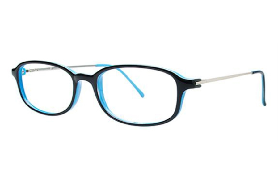 Modern Times Alright Eyeglasses in Black / Blue / Silver