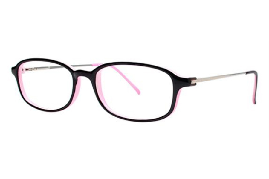 Modern Times Alright Eyeglasses in Black / Pink / Silver