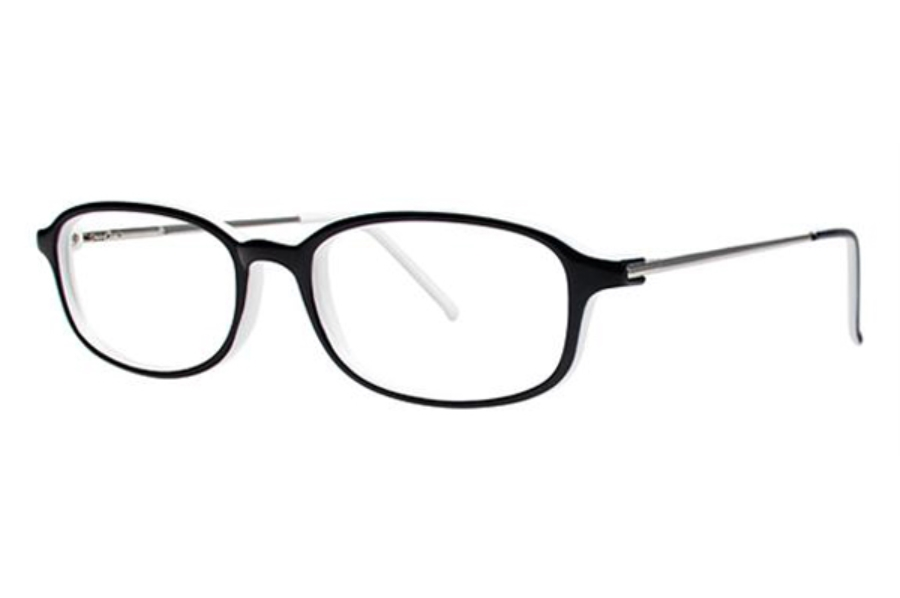 Modern Times Alright Eyeglasses in Black / White / Silver