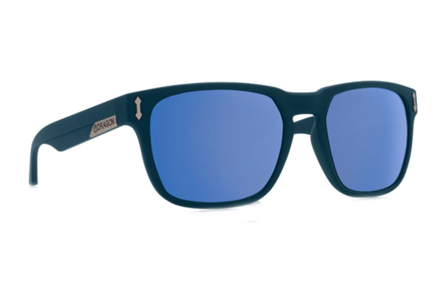 Dragon MONARCH Sunglasses in Matte Deep Navy / Blue Ion