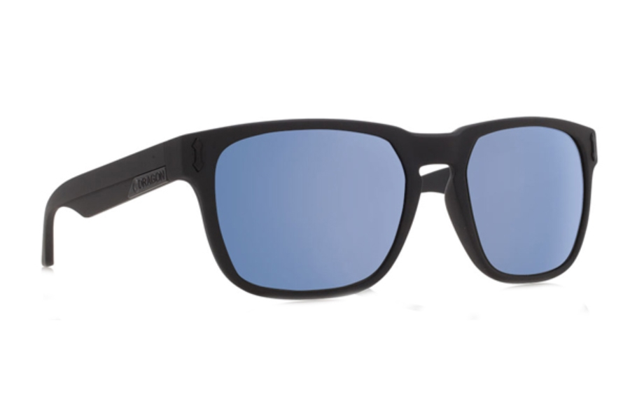 Dragon MONARCH Sunglasses in Matte Black / Sky Blue Ion