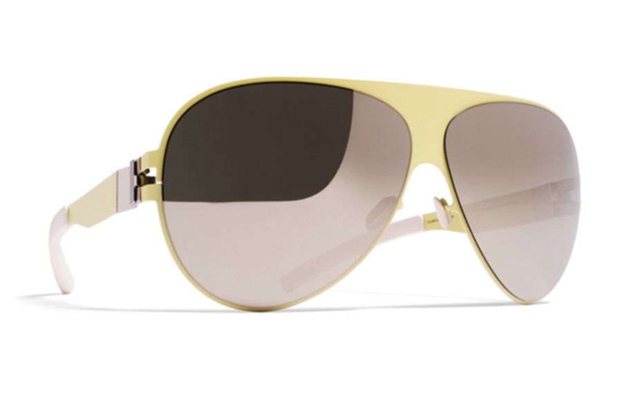 13b2069db5df ... Mykita Franz Sunglasses in F63 Sulfur w/ Superivory Flash Lens ...