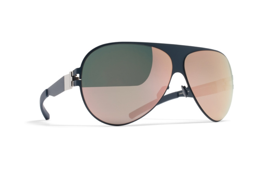 3b5389a03305 ... Mykita Franz Sunglasses in F65 Navy Blue w/ Rose Gold Flash Lens ...