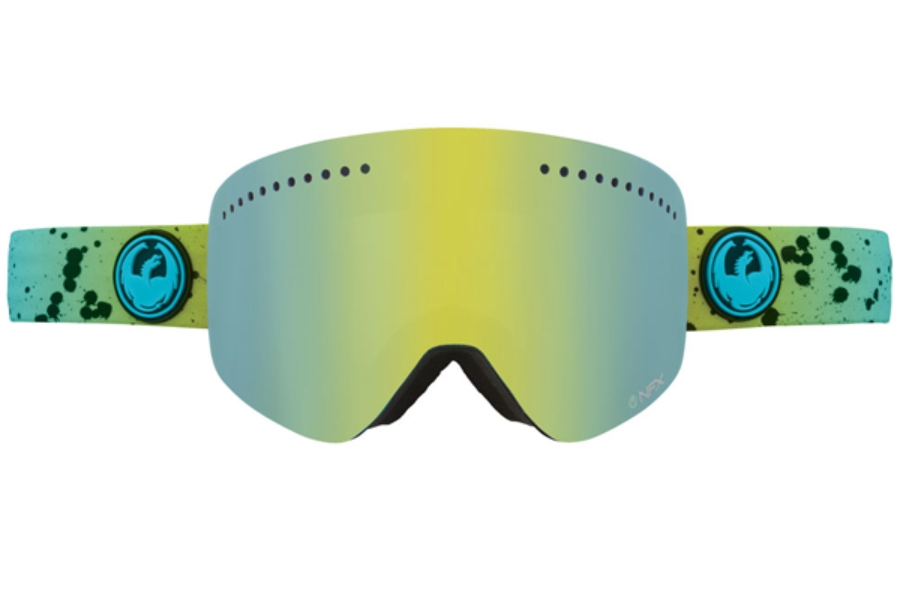 Dragon NFX - Continued Goggles in SPLATT/SMOKE GOLD+YELLOW BLUE ION