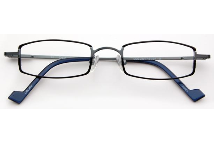 OGI Eyewear 2224 Eyeglasses in 974 - Black/Blue Steel