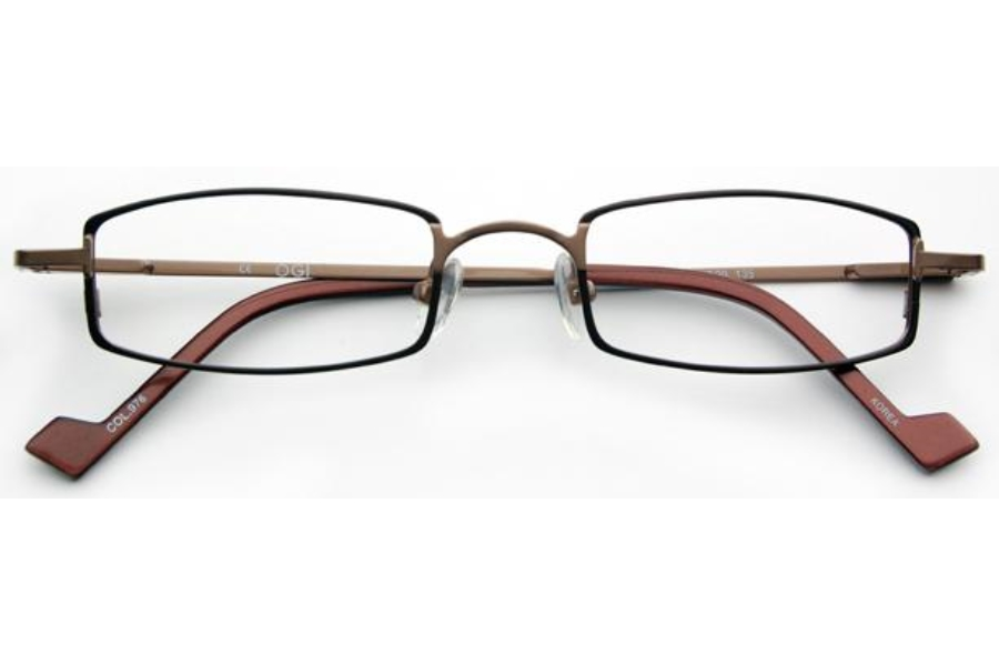OGI Eyewear 2224 Eyeglasses in 976 - Brown/Brown Steel