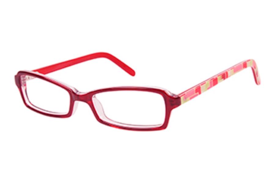 f937d6cf8781 ... OP-Ocean Pacific Kids OP 837 Eyeglasses in Red Laminate ...