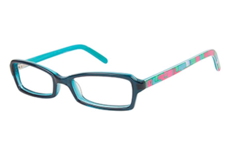 5a75350a5279 ... OP-Ocean Pacific Kids OP 837 Eyeglasses in Teal Laminate ...