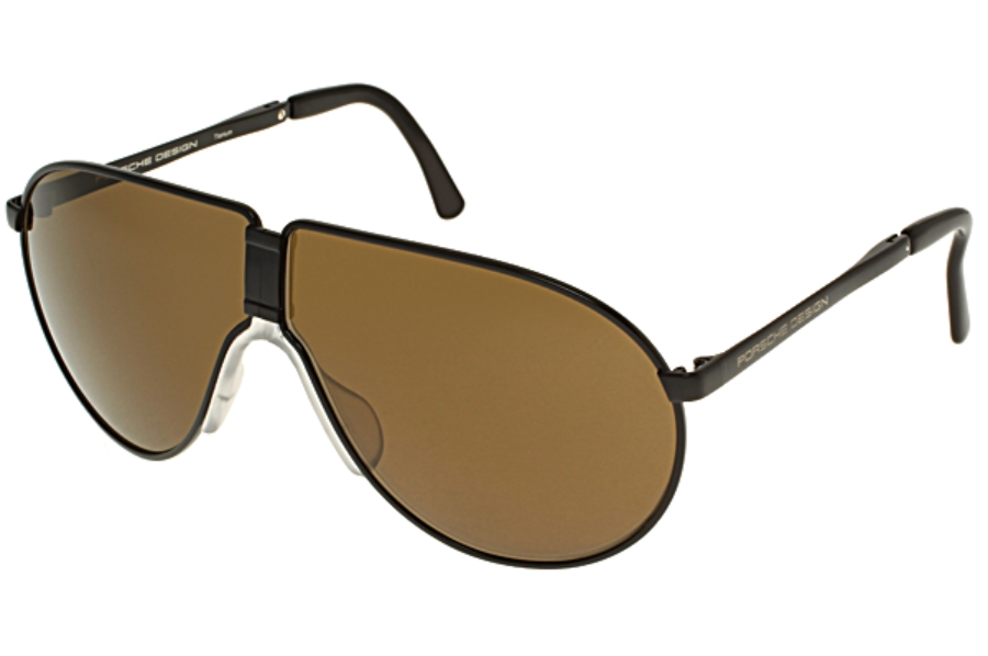 08592983fb7c Porsche Design P 8480 Folding Sunglasses in C) Black w Brown ...