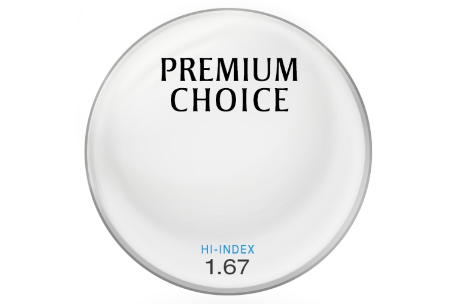 Premium Choice Hi-Index Plastic 1.67 Lenses in Premium Choice Hi-Index Plastic 1.67 Lenses
