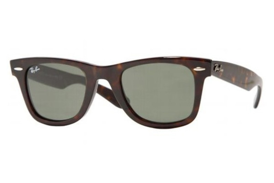 Ray-Ban RB 2140 Original Wayfarer Sunglasses in 902 Tortoise w/ G15 Glass lenses