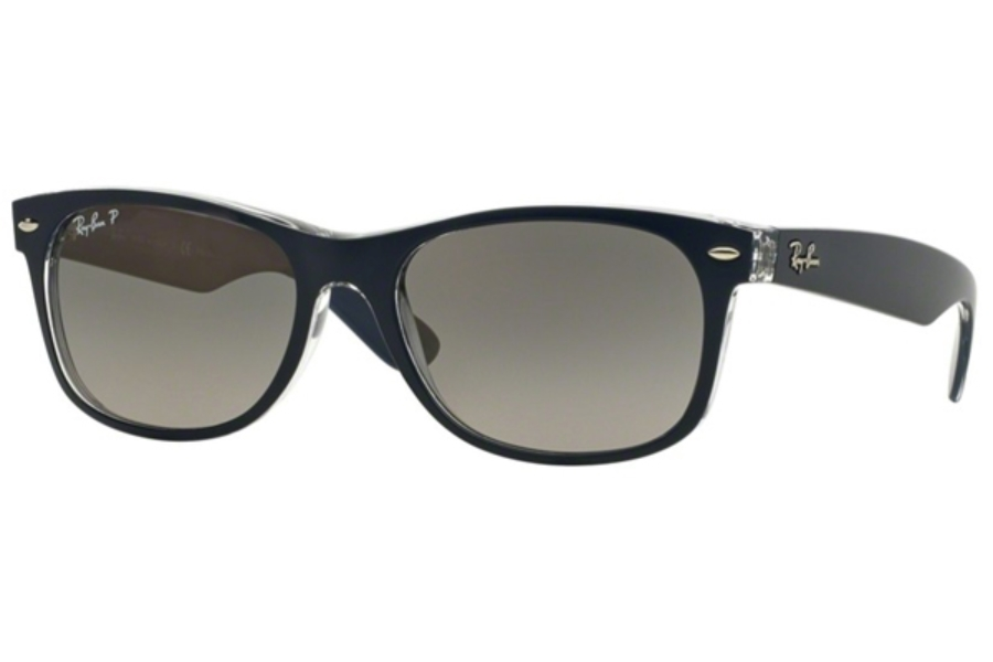 Ray-Ban RB 2132 Polarized Sunglasses in 6053M3 Polarized Top Blue On Transparent (52 & 55 Eye)