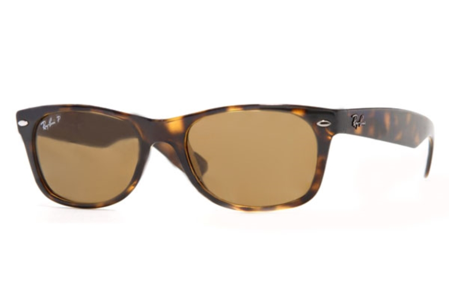 Ray-Ban RB 2132 Polarized Sunglasses in 902/57 Tortoise Crystal Brown Polarized (55 eyesize only)