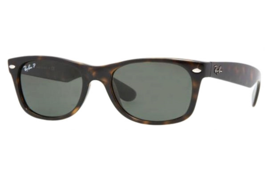 Ray-Ban RB 2132 Polarized Sunglasses in 902/58 Tortoise Crystal Green Polarized