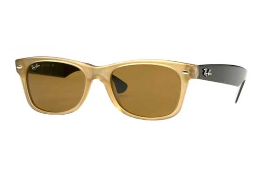 Ray-Ban RB 2132 Polarized Sunglasses in 945/57 Honey Crystal Brown Polarized (55 Eye)