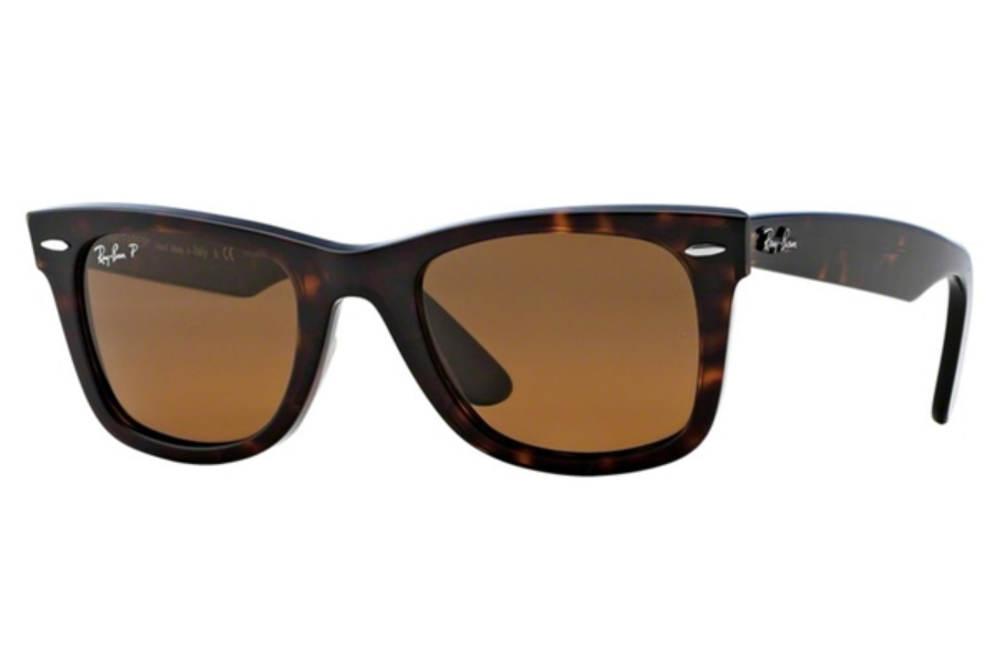 Ray-Ban RB 2140 Original Wayfarer Sunglasses in 902/57 Tortoise/Crystal Brown Polarized (50 Eye)