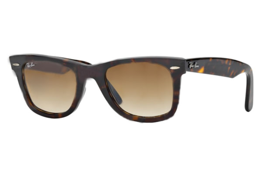 Ray-Ban RB 2140 Original Wayfarer Sunglasses in 902/51 Tortoise Crystal Brown Gradient (50 Eye)