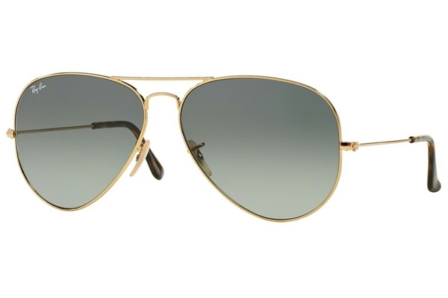 Ray-Ban RB 3025 (Aviator Large Metal) Sunglasses in 181/71 Gold Light Grey Gradient Dark Grey (58 and 62 Eyesizes Only)