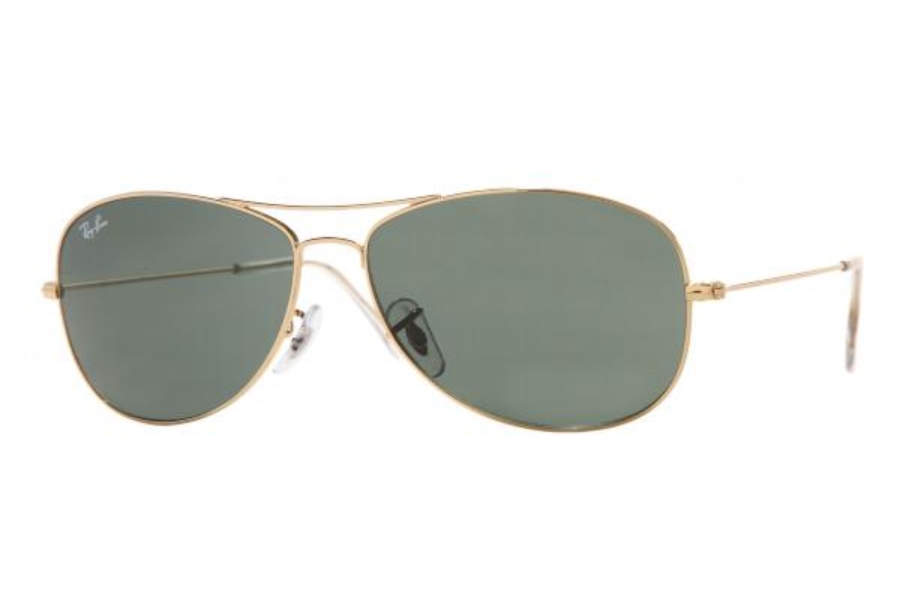 Ray-Ban RB 3362 Cockpit Sunglasses in 001 Arista w/ Glass G15 lenses