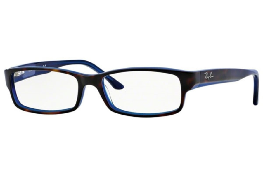 Ray-Ban RX 5114 Eyeglasses in 5064 Top Havana On Blue