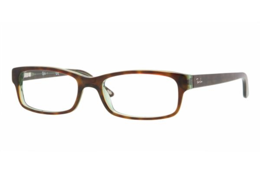Ray-Ban RX 5187 Eyeglasses in 2445 - Havana/ Green