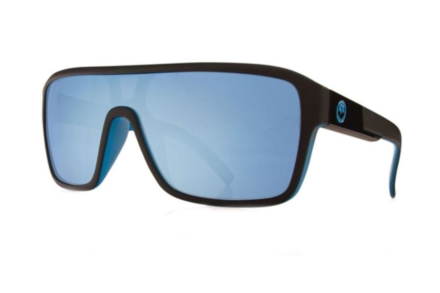 Dragon DR REMIX 1 Sunglasses in Matte Black / Sky Blue Ion Performance Polar