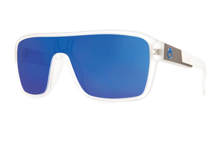 Dragon DR REMIX 1 Sunglasses in Matte Clear / Blue Ion