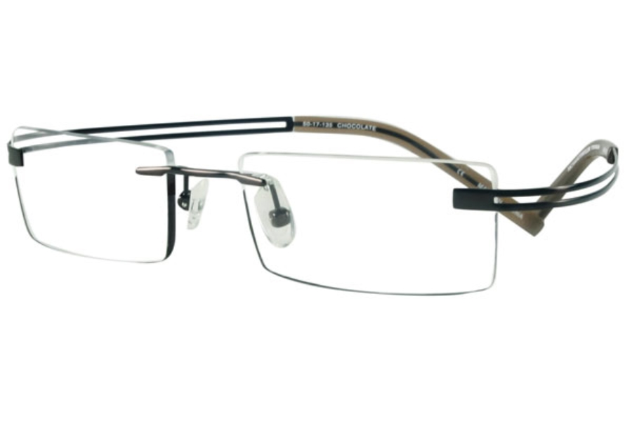 Richard Taylor Titanium Gauthier Eyeglasses in Chocolate