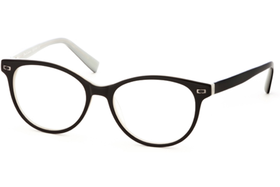 Rough Justice Drama Eyeglasses in Onyx/Pearl