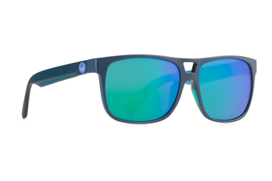 Dragon ROADBLOCK Sunglasses in Matte Deep Navy H2O / Green Ion Performance Polar