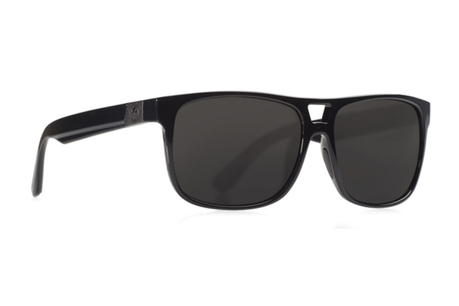Dragon ROADBLOCK Sunglasses in Shiny Black / Smoke Performance Polar