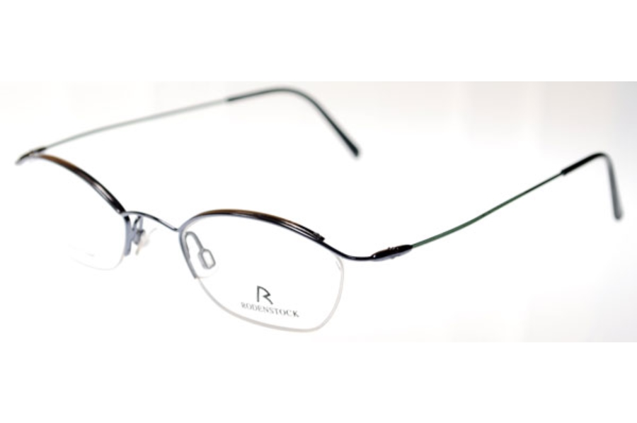 Rodenstock 4338 Eyeglasses in (C) Black w/Green Temples