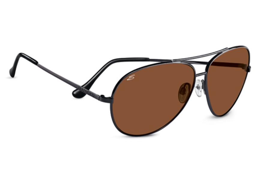 d91b481c207e Serengeti Large Aviator Sunglasses in 7508 Shiny Gunmetal w  Drivers Lenses  ...