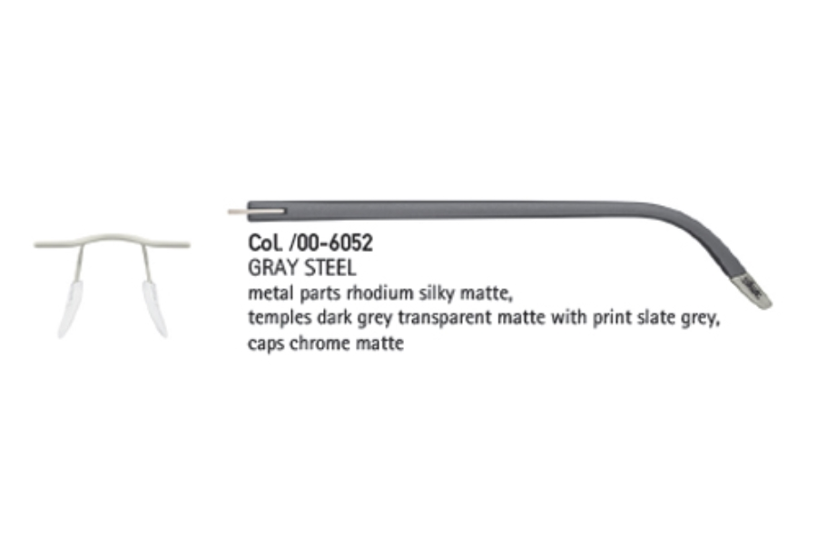 0907732d632 ... Silhouette 4406 (5379 Chassis) Eyeglasses in 6052 Gray Steel ...