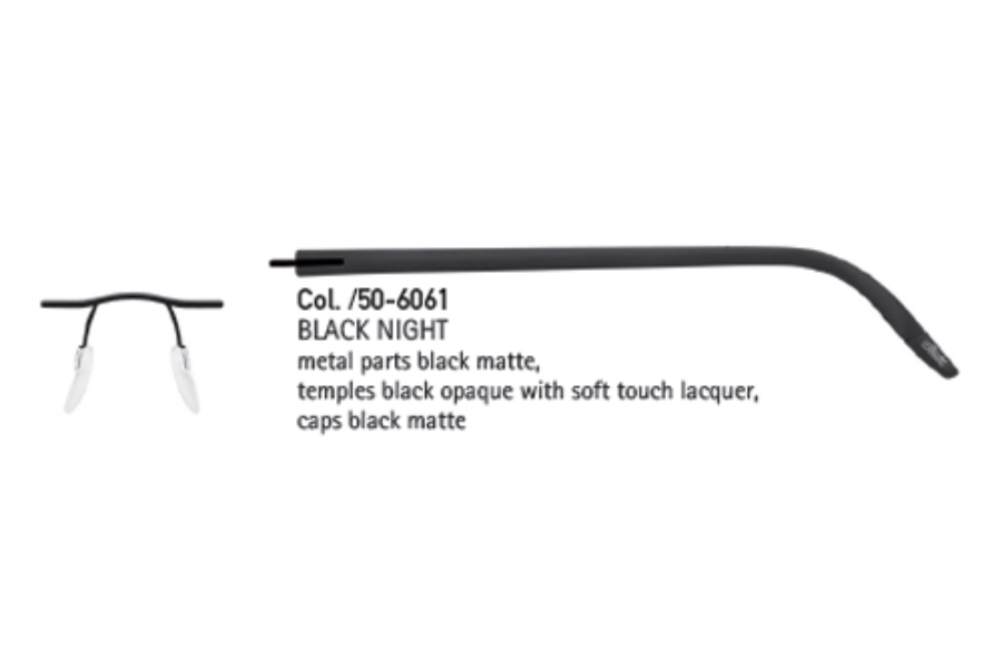 54d2dccbc7 ... Violet Shimmer  Silhouette 4406 (5379 Chassis) Eyeglasses in 6061 Black  Night ...