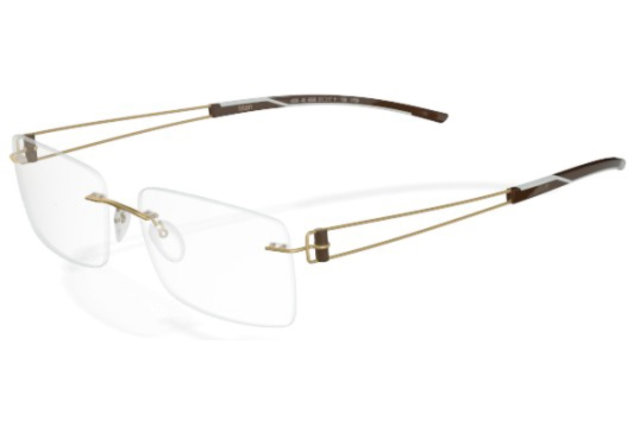 bfc9830be5b ... Silhouette 7754 (7759 Chassis) Eyeglasses in 6062 golden-brown ale ...