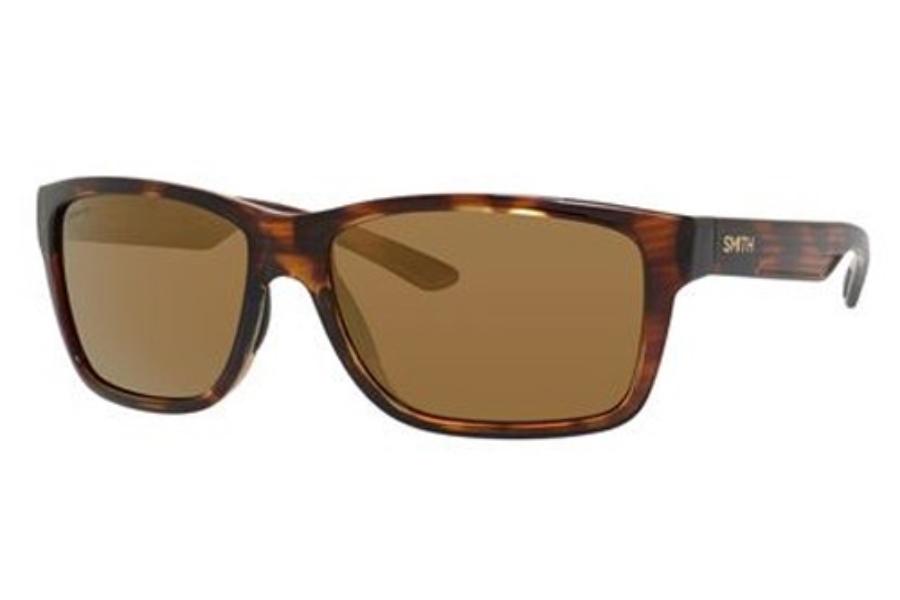 Smith Drake Sunglasses Black Frame ChromaPop Polarized Blue Mirror Lens