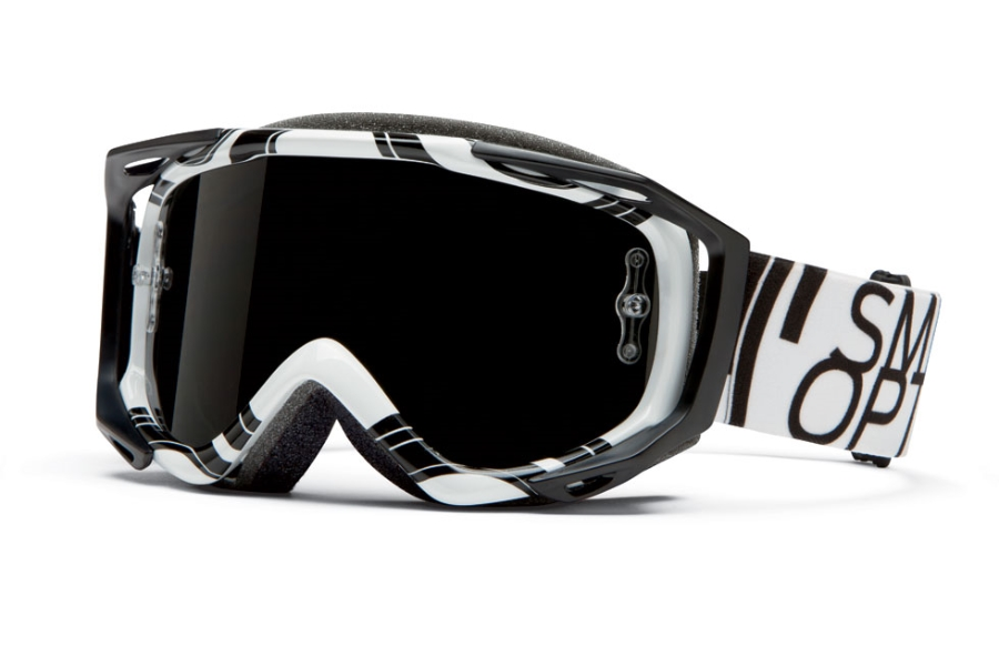 Smith Optics Fuel V.2 Sweat-X M Goggles in White Data / Blackout Lens