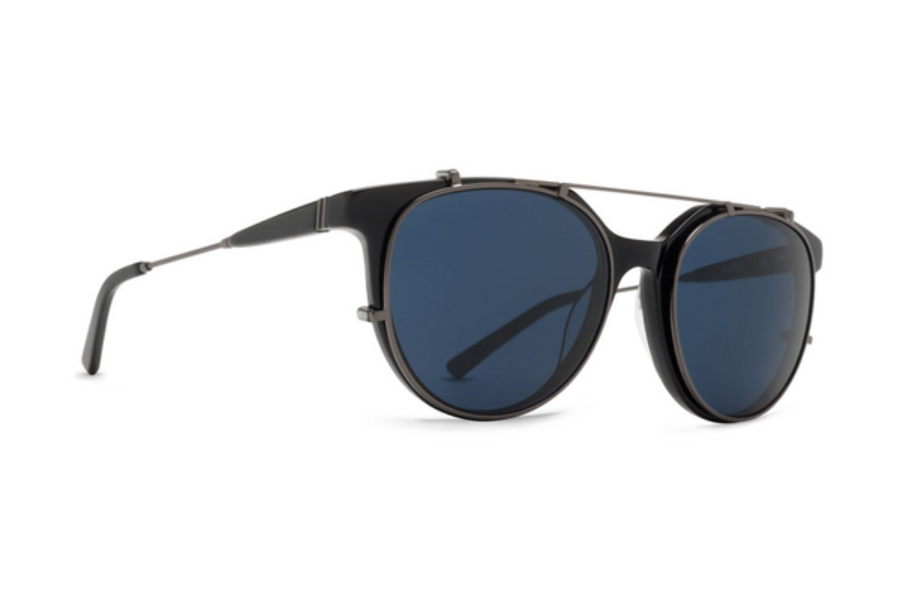 Von Zipper Hyde Sunglasses in BLB Black Gloss Satin Gunmetal / Light Blue