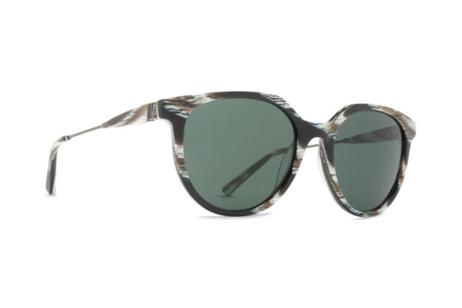 Von Zipper Hyde Sunglasses in HOG Horn Satin Gunmetal / Grey