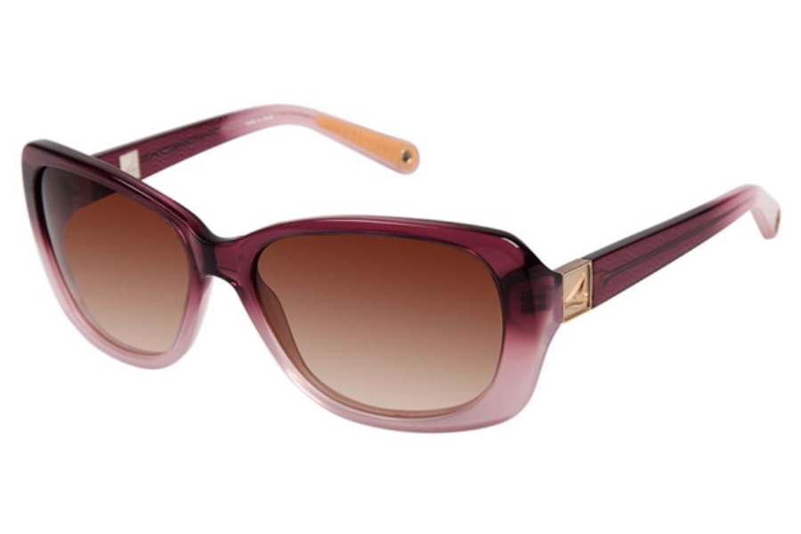 Sperry Top-Sider East Hampton Sunglasses in C02 Berry / Light Pink Fade