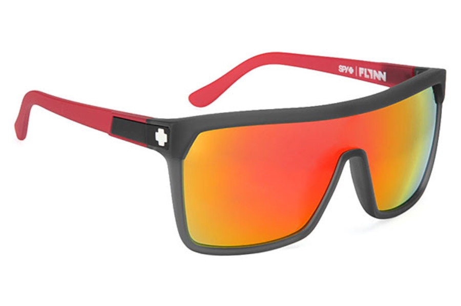 c09c188cb2 ... Flash Mirror Lenses  Spy FLYNN Sunglasses in Cherry Bomb w  Grey   Red  Spectra Lenses ...
