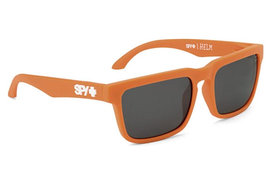 b83bf29eb7 ... Spy HELM Sunglasses in Matte Orange w  Happy Bronze Polarized   Black  Mirror Lens ...